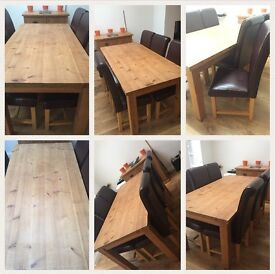 Dining Table & 6 chairs & side board