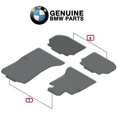 For BMW F10 F11 Set of Front  Rear All Weather Floor Mats Set Black Genuine
