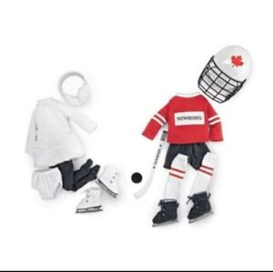 "HOCKEY AND SKATING OUTFITS FOR 18"" DOLLS BRAND NEW IN SEALED BOX"