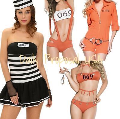 Robber Costumes Halloween (Sexy Adult Prisoner Jail Mate Robber Halloween Costume & Lingerie S-L)