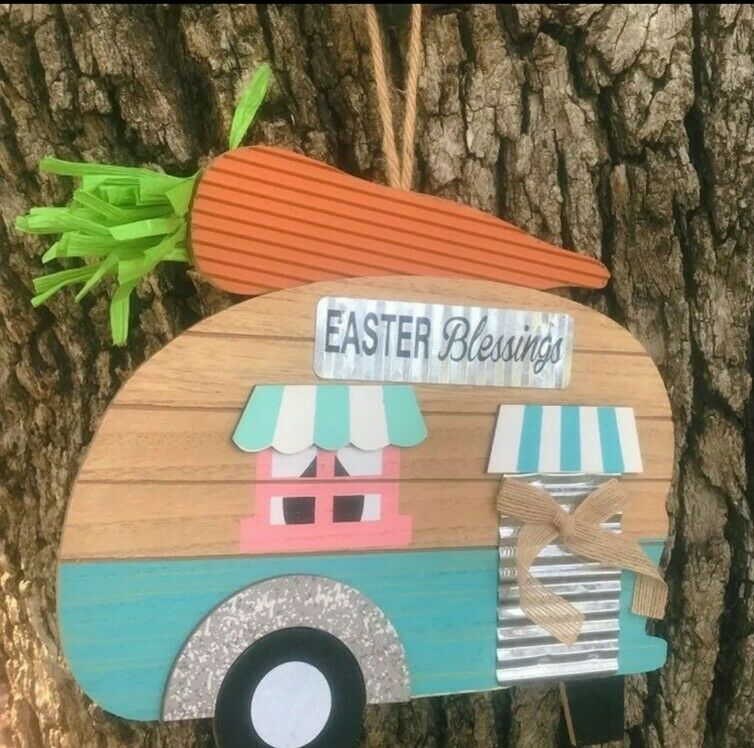EASTER Camper Hanging Wall Decor