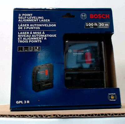 Bosch GPL 3 R 100ft 3-point Self-leveling Alignment Laser factory sealed