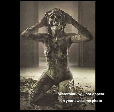 Scary Vintage Creepy Devil Girl PHOTO Nude Demon Freak Zombie Mask (Scary Demons)