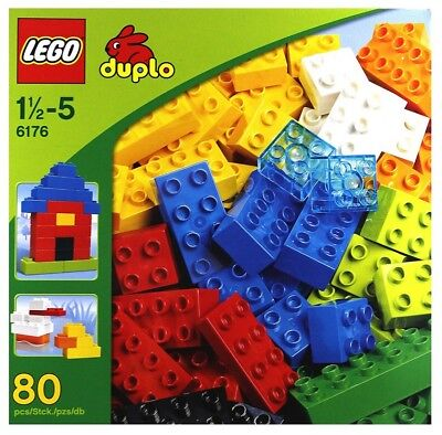 - LEGO Duplo Colorful Basic Bricks Deluxe 6176 (80 Pieces) Kids Building Blocks