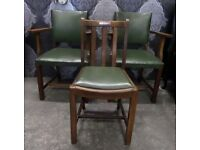 3 x Local Church Chairs 2 Carvers & 1 Stand dining Kitchen Other items Available