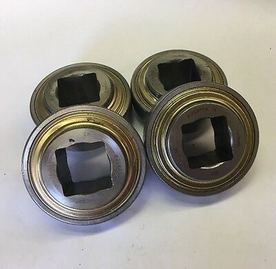 Lot Of 4 Sst W208ppx 1-316 Square Shaft Conveyor Bearing 80mm Od