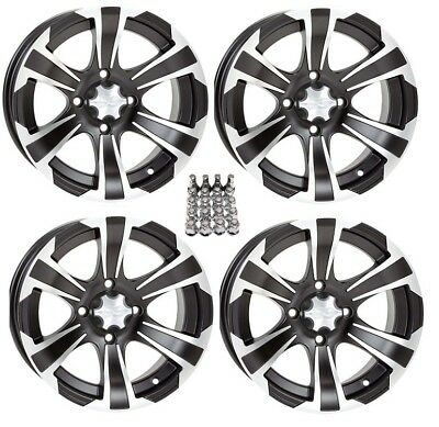 "ITP SS312 ATV Wheels/Rims Black 14"" Yamaha Grizzly Rhino (4) for sale  Middleport"