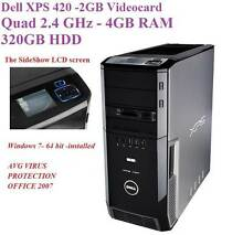 Dell XPS 420/HDMI-2GB Video-Quad 2.4 GHz/4GB RAM/320GB HDD St Marys Penrith Area Preview