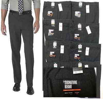 Dockers D2 Signature Khaki Straight Fit Flat-Front Pants 408280177 Striped