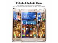 "NEW: - 5.5"" Unlocked GOLD X-BO X9 Mobile Phone Quad Core 4G GSM Dual SIM Android Smart phone GPS 8GB"