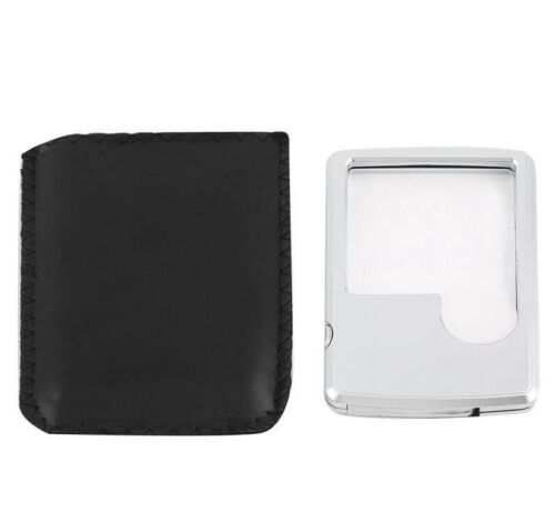 Portable Pocket Credit Card Size 3x 6x Magnifier Magnifying with LED light Glass