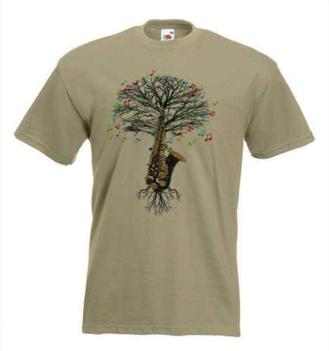 70367b2f Saxophone T-shirt Musical Saxophone Tree in sizes Small to XXL | eBay