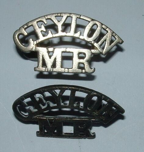 CEYLON MOUNTED RIFLES  SHOULDER TITLES
