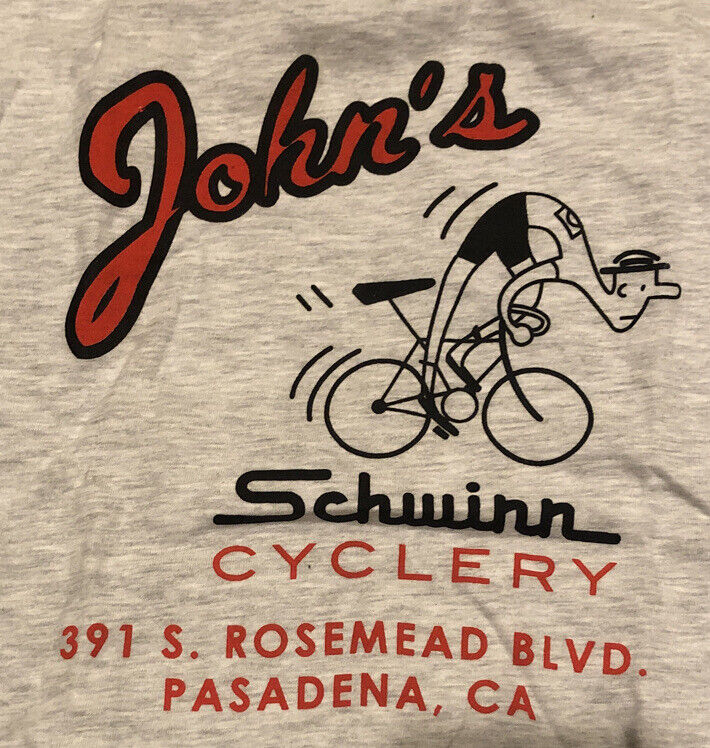 Vintage Schwinn Prewar Post War Phantom Paramount Gray T Shirt New Hanes SMALL