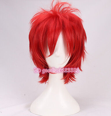 Seed of Chucky cosplay wig short red fluffy Halloween party wig +a wig cap](Red Chucky Wig)