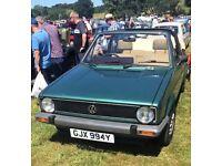 Classic 1983 Mk1 Volkswagen Golf Cabriolet Automatic