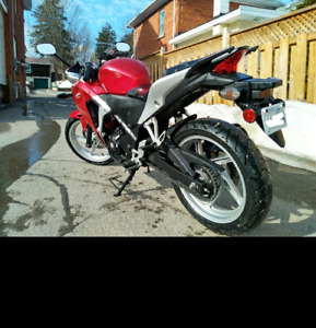 2012 cbr 250r with cb300f handlebar conversion parts.