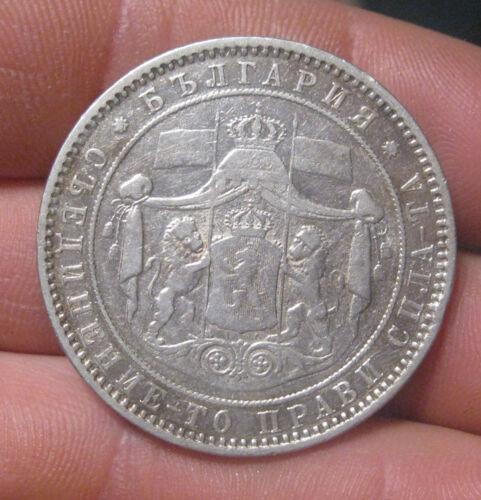 Bulgaria - 1885 Large Silver 5 Leva