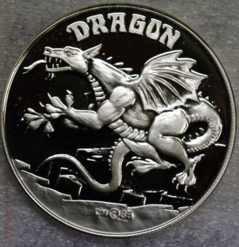 Silver Dragon gift coin one troy ounce .999 fine round
