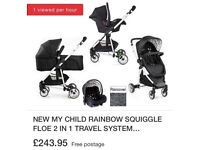 My child floe travel system pushchair complete with maxi cosy cabriofix car seat and all attachments
