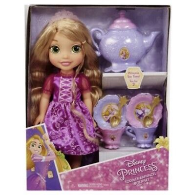 (Disney Princess Rapunzel Toddler Doll & Tea Set Party Playset Toy Store Gift)