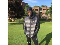Adidas puffer jacket (black)