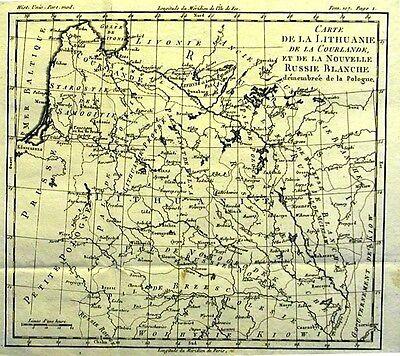 Antique map, Carte de la partie septentrionale de la Russie Europeene.