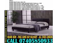 BRAND NEW SINGLE DOUBLE AND KING SIZE LEATHER BED WITH MATTRESS. Minto