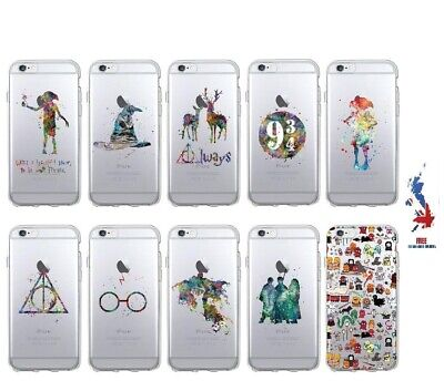 Harry Potter Watercolour Soft Phone Case Cover iPhone 6 7 Plus X XSMax XR Dobby
