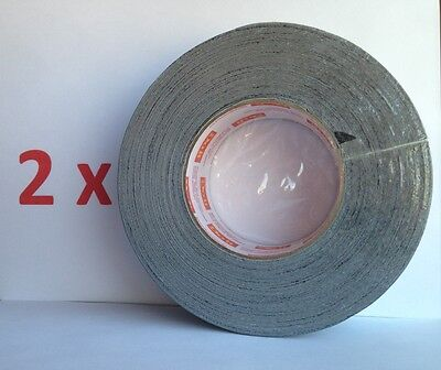 2 Rolls Heavy Duty Silver Duct Tape Industrial Utility Contractor Grade 2 x60 yd Contractor Grade Duct Tape