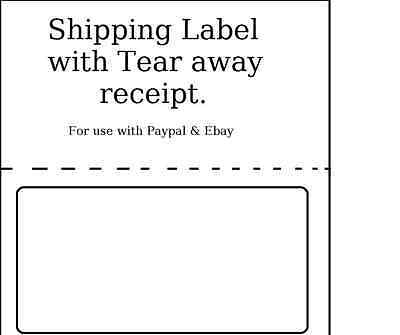 1500 Shipping Labels With Tear Off Receipt - Usa Made - Use For Paypal Ebay