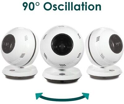 Oscillating Fan w/ Remote Control and Dust-Free Bladeless