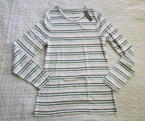 NEW WOMENS 2X J CREW SLIM PERFECT FIT LONG SLEEVE TSHIRT IN STRIPES
