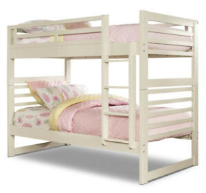 White bunk bed from the brick