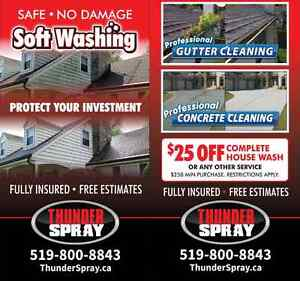 House Washing, Eaves Troughs and Gutter Cleaning, House Washing