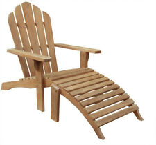 Teak Wood Adirondack Chair With Footstool Made By Chic