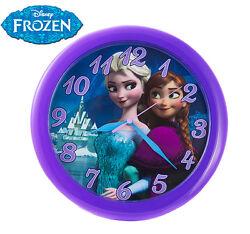 Disney Frozen 10 Inch Round Wall Clock Elsa & Anna Quartz Accuracy Olaf Movie