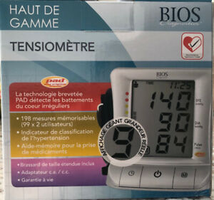 NEW Blood Pressure Monitor - BIOS DIAGNOSTICS PREMIUM