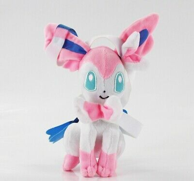 "Pokemon GO Sylveon Evolution Pink Eevee Figures Plush Toy Stuffed Doll 7"" Gift"