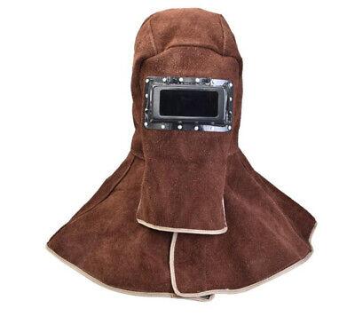 Safety Leather Welding Hood Helmet Welder Mask Protector Cap