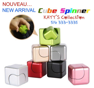 NOUVEAU/New Arrival METAL SQUARE MAGIC CUBE Hand SPINNER KAYY'S