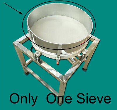 10-100 Mesh Vibrating Screen Accessories Stainless Sieve Dia. 19.6 One Piece