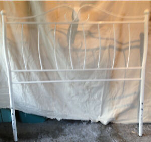 Metal headboard and footboard (white)