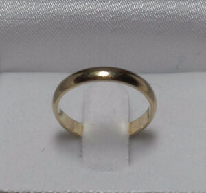"""10kt Yellow Gold wide 2mm """"Wedding Band"""" - Size 5"""