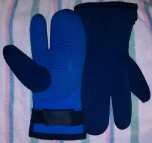 7mm Dive or Ice Fishing 3-finger gloves SZ X-Large TWO PAIRS