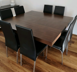 Solid 8 seater square table