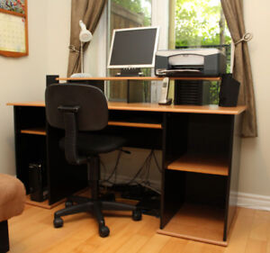 Desk, Chair, Computer, and Printer - This Is One-Stop Shopping!