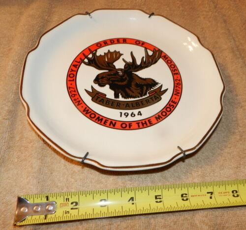 LOYAL ORDER OF MOOSE No 927 Taber Alberta No 762 Women of the Moose 1964 Plate