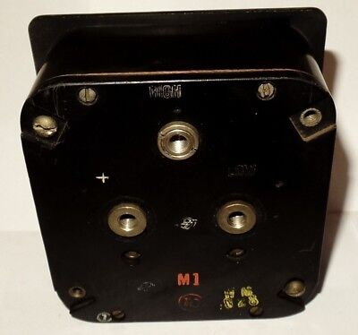 Weston DC Square Panel Meter Ammeter Milli Amps Milliamperes 0- 2.5 / 0-.5 MA