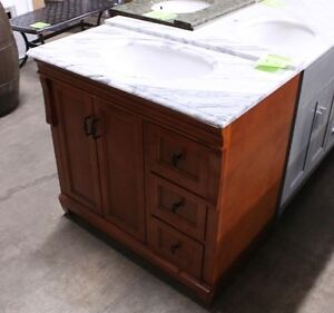 "Naples 37"" Hardwood Vanity With Top"